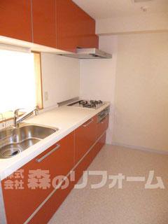 松戸市 まるごとマンションリフォーム キッチンリフォーム タイルからキッチンパネルへリフォーム 使いやすいキッチンへリフォーム
