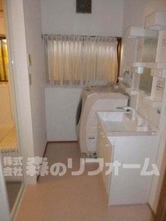 松戸市 まるごと戸建リフォーム 洗面所リフォーム クロス貼り替えリフォーム 洗面台リフォーム