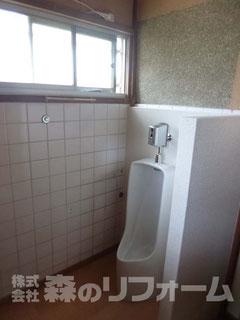 松戸市 水まわり洗面台撤去後小便器取付リフォーム