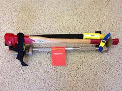 Halligan Tool, Spaltaxt, Neubauschlüssel verpackt im Pax-Tragesystem