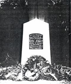 dudweiler, herrensohr, kaltnaggisch, friedrich-ebert-denkmal, 1925
