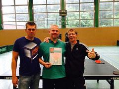 II. Herren mit Dieter Wacker, Egbert Welp und Ferdinand Terveer