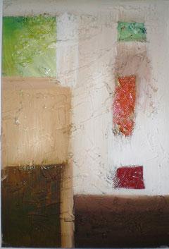 Acryl mit Spachtel auf Leinen, 80 cm x 70 cm, 2009
