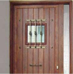 Accesorio en oro envejecido puertas entrada