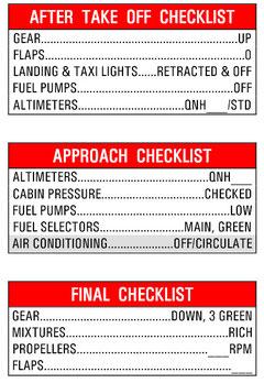 Stick Checklist Cessna 421C