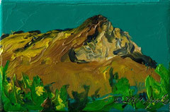 0030-la Sainte Victoire, 15/10cm oil on canvas