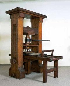 グーテンペルグの印刷機械