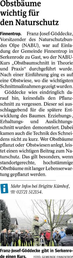 Westfalenpost, 08.03.2019