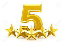 Five stars Crepe and Cake Facebook reviews!