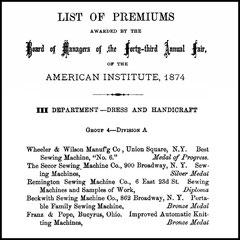 American Institute 1874