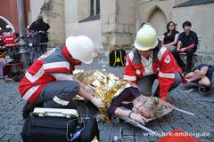 Erstversorgung an der Verletztenablage