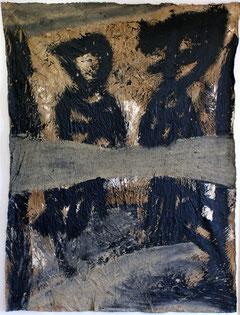 """Eduard Bousrd Bangerl, """"brig"""", Mischtechnik auf Molino, 140 x 106 cm  1997"""