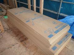 無垢の木でつくる 台東区 木造3階建て耐火建築物 耐力面材施工1