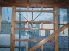 無垢の木でつくる 台東区 木造3階建て耐火建築物 窓台・まぐさ画像4