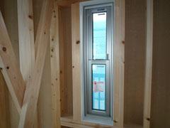 無垢の木でつくる 台東区 木造3階建て耐火建築物 サッシ取付け画像4