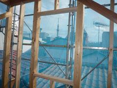 無垢の木でつくる 台東区 木造3階建て耐火建築物 窓台・まぐさ画像3
