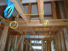 台東区 木造耐火3階建て住宅 電気配線工事1