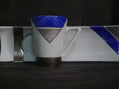 Café gourmand bleu