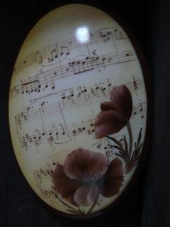 Coquelicots et notes de musique