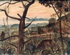 戦後の作品「三河湾の夕日」題名不明