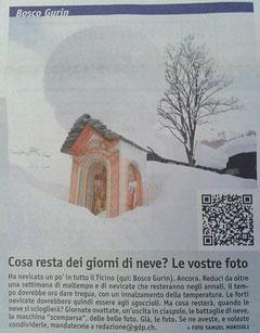 Foto sul Giornale del Popolo