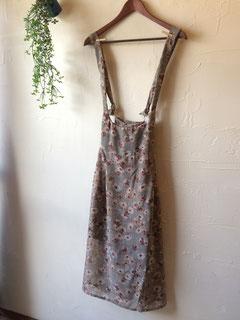花柄サロペットスカート 9800