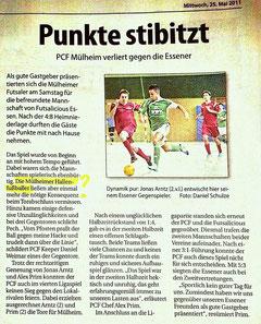 Futsalicious Essen e.V. Aktuelles Mülheimer Woche vom 25.05.2011 zum Double-Header gegen PCF Mülheim