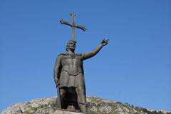 Erinnerung an Pelayos in Covadonga