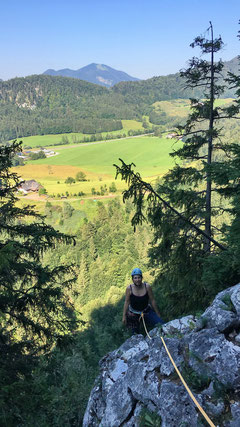 Klettern in toller Umgebung.