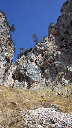 Aufstieg zur Berchtesgadener Rinne