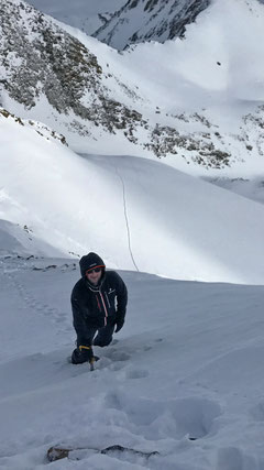 Gipfelanstieg Gross Leckihorn