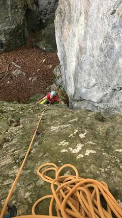 07/2019: Klettern mit Tanja im Get Wet Canyon (CH/SO)