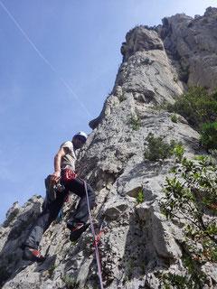 Einstieg in die Route Sirène Liautard