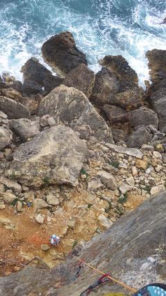 Im Klettersektor Siesta bei Santa Eulalia.