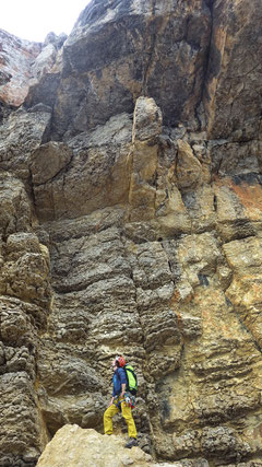 Steile Felsklippen mit faszinierenden Strukturen!