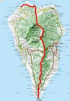 Unsere Route der Inseldurchquerung