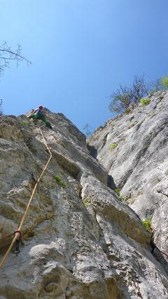 04/2019: Klettern mit Dominik an der Falkenfluh (CH/SO)