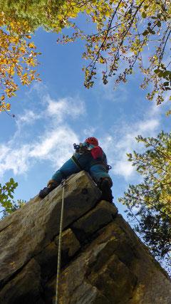 Olli klettert die Ostkante.