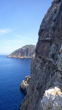 Die Felswand der Punta de Aguila.