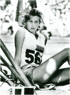 1956, JO Australia. Gunhild Larking. Campeona de salto de altura.