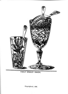 Fancy Brandy Smash from the Savoy Cocktail Book
