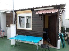 Dachterrasse mit Miniapartment