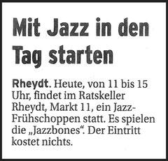 09.12.12 - Extra Tipp - Mit Jazz in den Tag starten