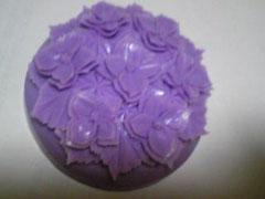 ソープカービングの紫陽花