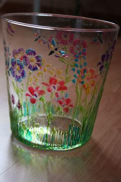 Glas mit Glaseffektgel