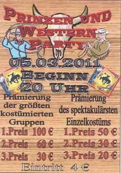 Prinzen und Western Party der Kerkever Jekke