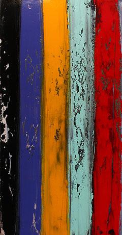 Carole Bécam - Artiste peintre - Série Bandes colorées
