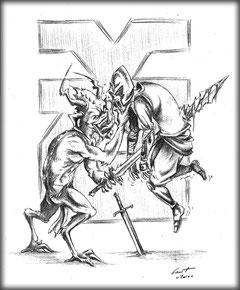 Illustration Khorne, par Graphigaut