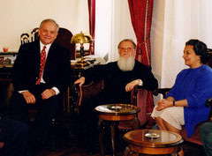 CNE, the Ecumenical Patriarch Bartholomew, and Maria Becket, Greece, 2002