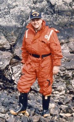 NOAA Administrator Bill Evans & CNE, Valdez, AK, March 1989